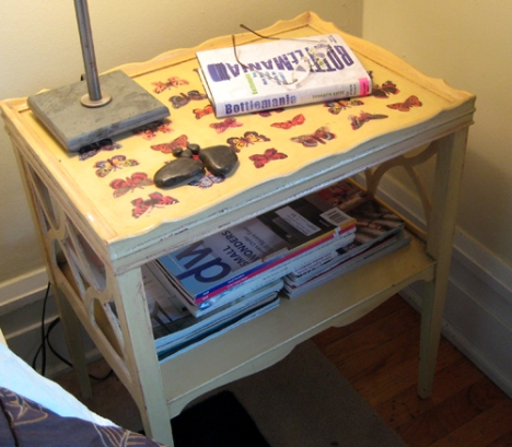 Do you call it a night table or night stand? Either way, it works.