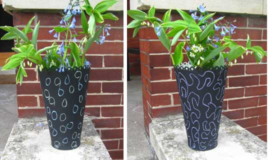 chalk vase 3 Projects With Chalkboard Paint
