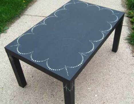 lack chalkboard table